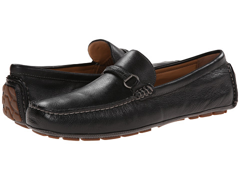 Johnston & Murphy - Harman Metal Bit Driver (Black Full Grain) Men's Slip-on Dress Shoes