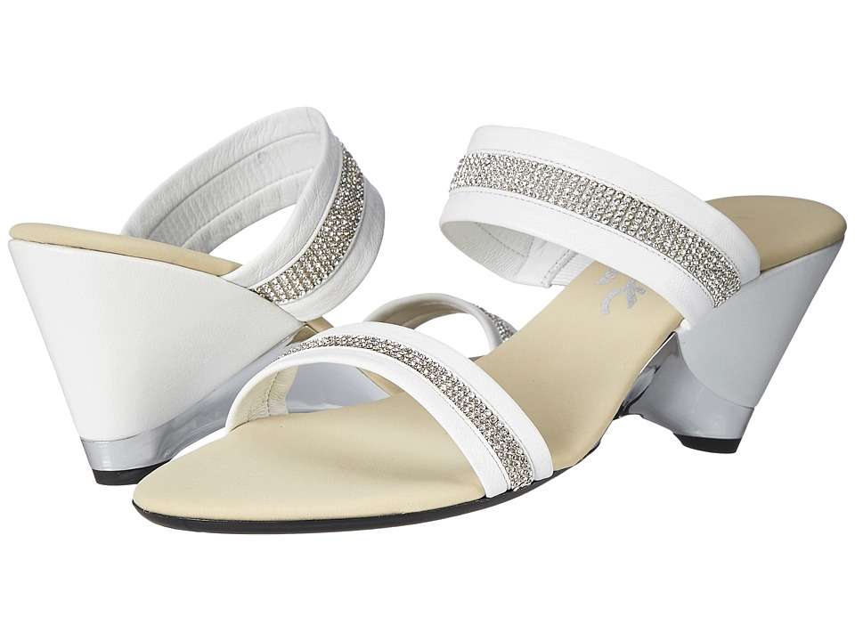 Onex - Stunning (White/Silver) Women's Wedge Shoes