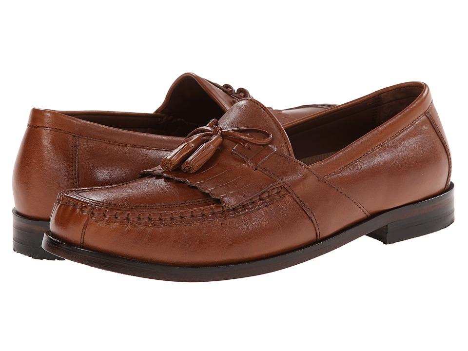 Johnston & Murphy - Aragon II (Tan Calfskin) Men's Slip on Shoes