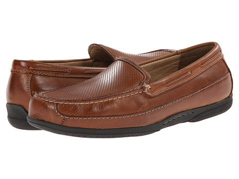 Johnston & Murphy - Trevitt Perfed Venetian (Tan Full Grain) Men's Slip on Shoes