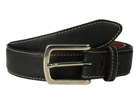 Torino Leather Co. - Ostrich (Black) Men's Belts