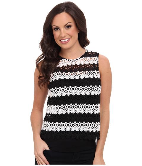 Lucky Brand - Striped Lace Tank Top (Black Multi) Women