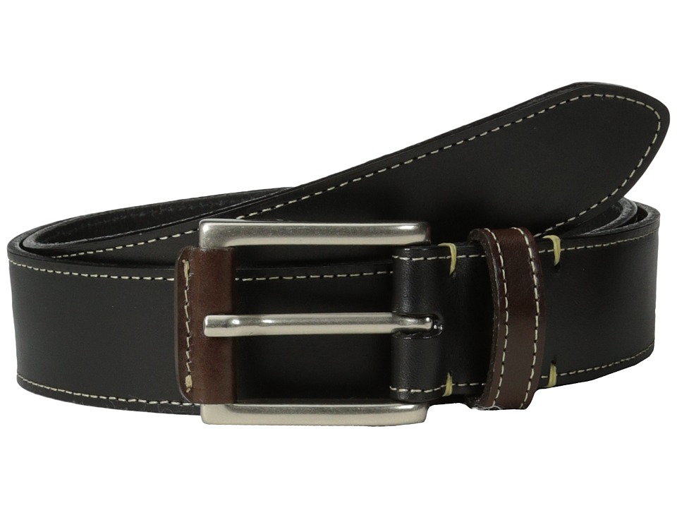 Torino Leather Co. - Two Tone Harness Leather (Black) Men's Belts