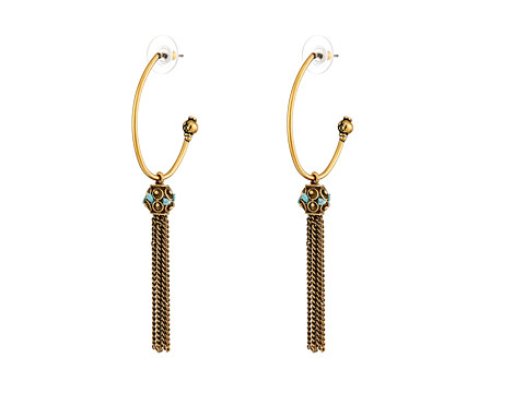 Sam Edelman - Wild Child Tassel Hoop Earring (Gold) Earring