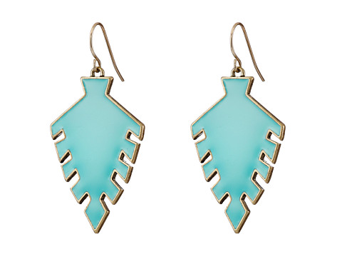 Sam Edelman - Wild Child Arrowhead Drop Earring (Turquoise/Gold) Earring