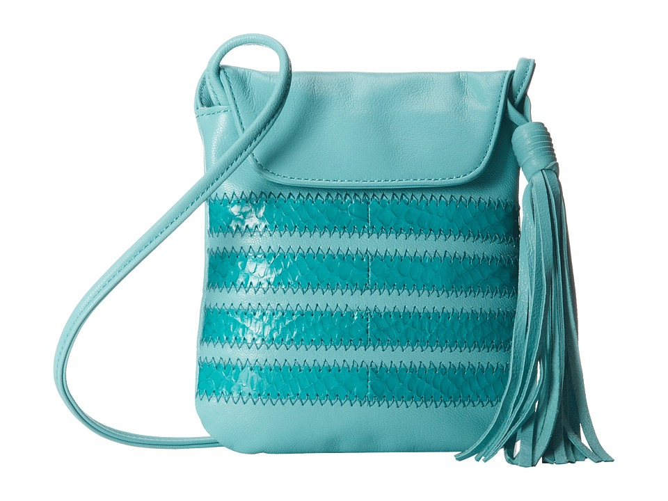SJP by Sarah Jessica Parker - The 54 (Aqua Leather/Snake) Handbags