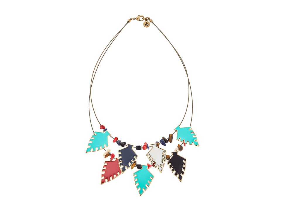 Sam Edelman - Wild Child Arrowhead Collar Necklace (Multi/Gold) Necklace