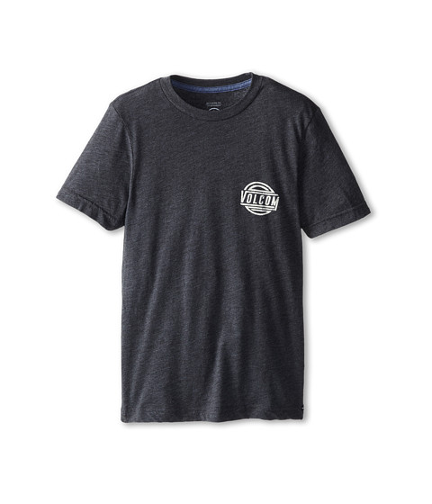 Volcom Kids - Shot Put S/S Tee (Big Kids) (Heather Black) Boy's Short Sleeve Pullover