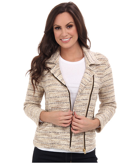 Lucky Brand - Marled Moto Sweater (Natural Multi) Women's Sweater
