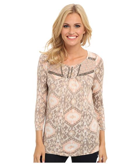 Lucky Brand - Diamond Ikat Top (Multi) Women's Clothing