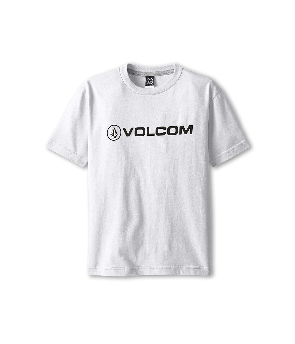 Volcom Kids - New Style S/S Tee (Big Kids) (White) Boy
