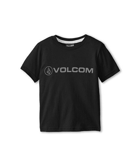 Volcom Kids - New Style S/S Tee (Toddler/Little Kids) (Black) Boy's Short Sleeve Pullover