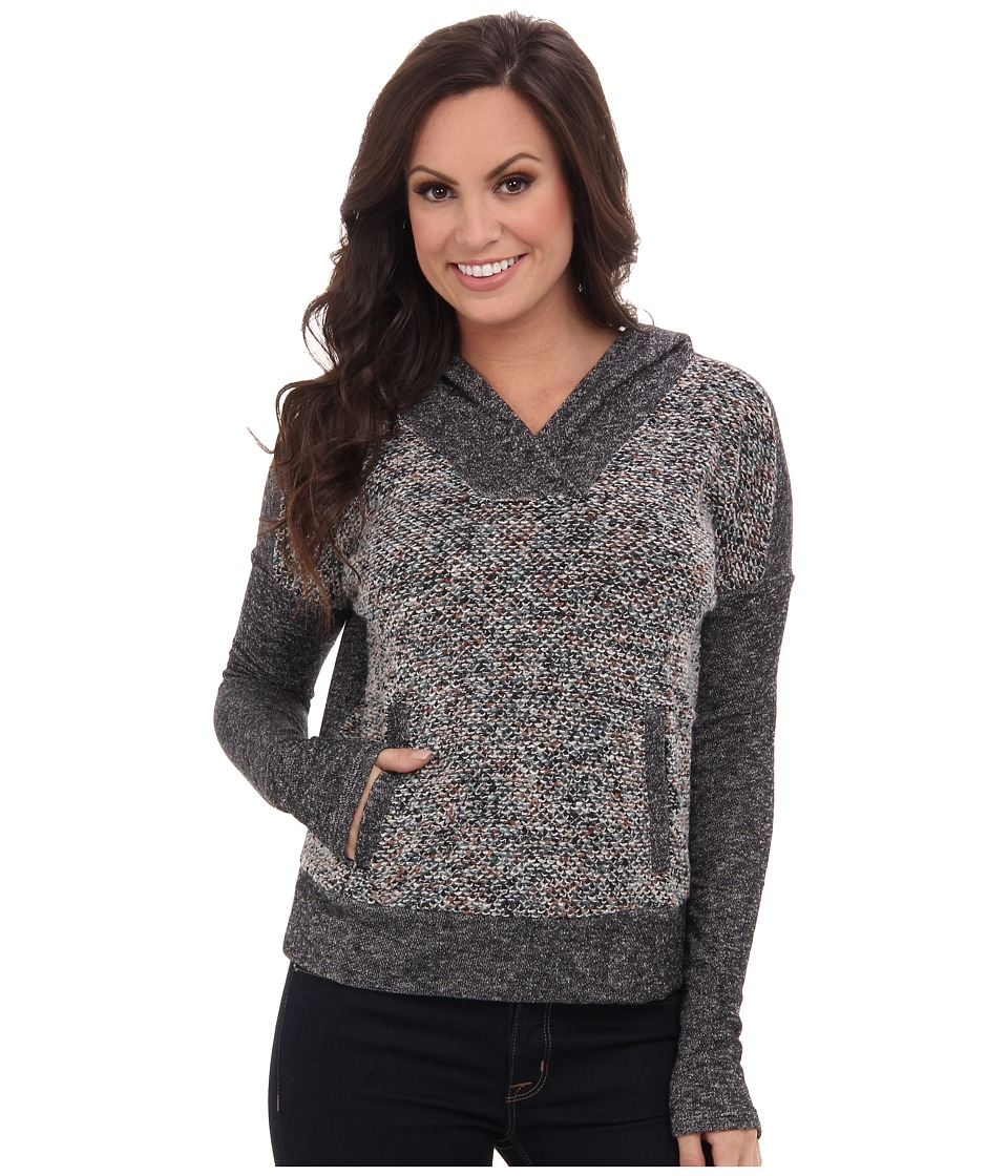 Lucky Brand - Sweater Mixed Hoodie (Multi) Women's Long Sleeve Pullover