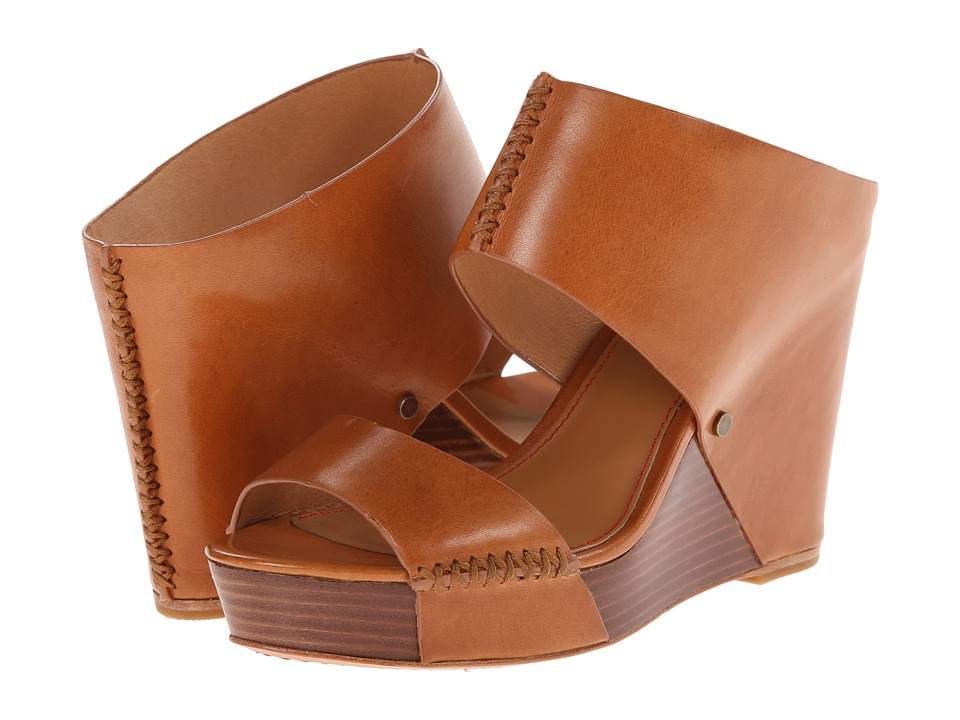 Trask - Riki (Saddle Tan Italian Calfskin) Women's Wedge Shoes