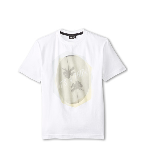 Volcom Kids - Palm Trip S/S Tee (Big Kids) (White) Boy