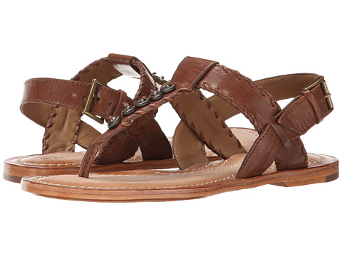 Trask - Briana (Brown Italian Washed Sheepskin) Women's Dress Sandals