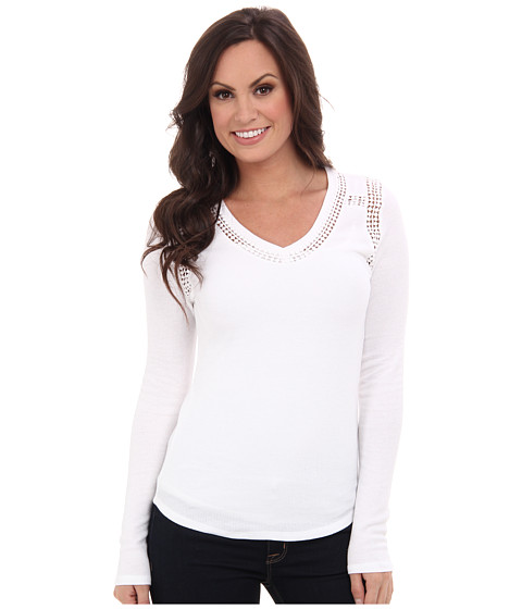 Lucky Brand - Lace Trim Thermal (Lucky White) Women