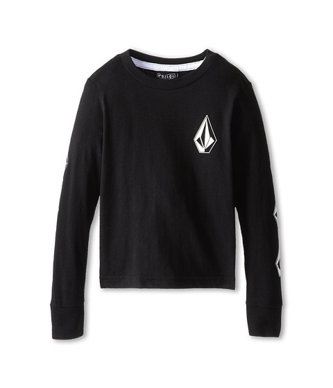 Volcom Kids - Say When L/S Tee (Toddler/Little Kids) (Black) Boy