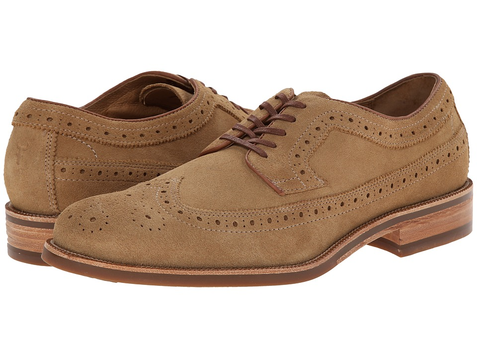 Trask - Fiske (Camel Water Resistant Suede) Men's Lace Up Wing Tip Shoes