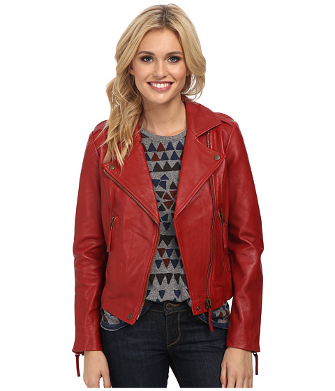 Lucky Brand - Major Moto Jacket (Red) Women