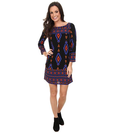 Lucky Brand - Revival Shift Dress (Black Multi) Women