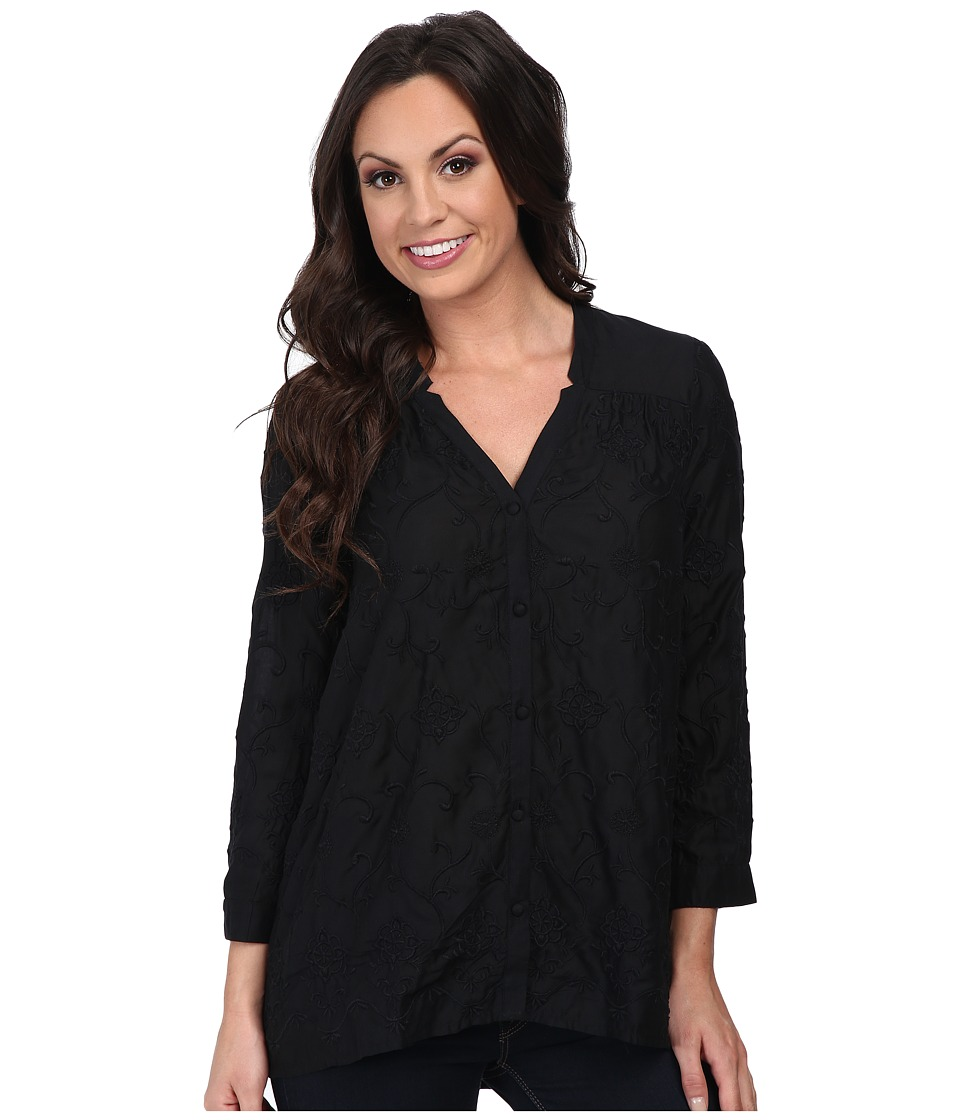 c9f14af2fcfe1 ... UPC 803049250593 product image for Lucky Brand Darcey Embroidered Top ( Lucky Black) Women s Long ...