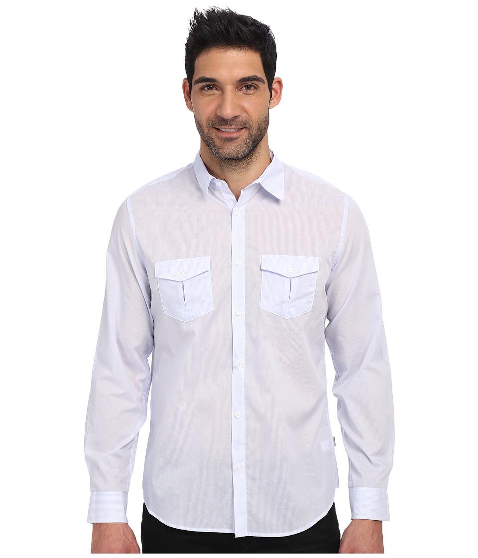 Calvin Klein - Chambray Voile Long Sleeve Woven Shirt (Pale Indigo) Men