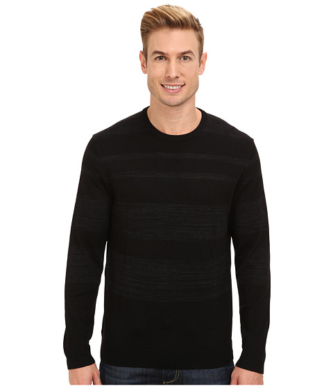 Calvin Klein - Merino Acrylic Sweater (Black Combo) Men's Sweatshirt