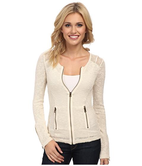 Lucky Brand - Mesh Moto Sweater (Nigori) Women's Sweater