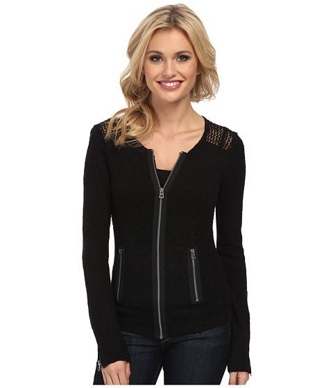 Lucky Brand - Mesh Moto Sweater (Lucky Black) Women's Sweater