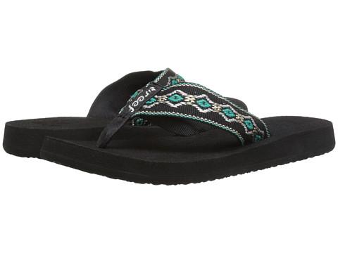 Reef - Sandy (Black/Blue/Metallic) Women's Sandals