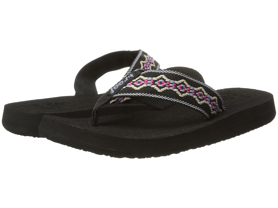 Reef - Sandy (Black/Blue/Pink) Women's Sandals
