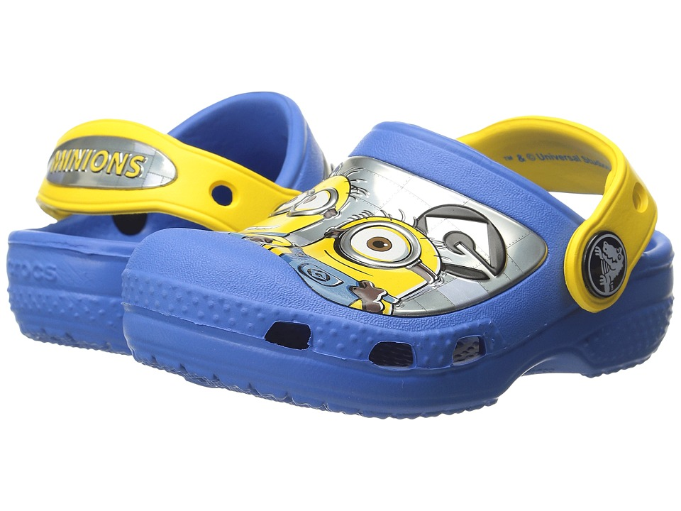 Crocs Kids - Minions Clog (Toddler/Little Kid) (Varsity Blue/Yellow) Kid's Shoes