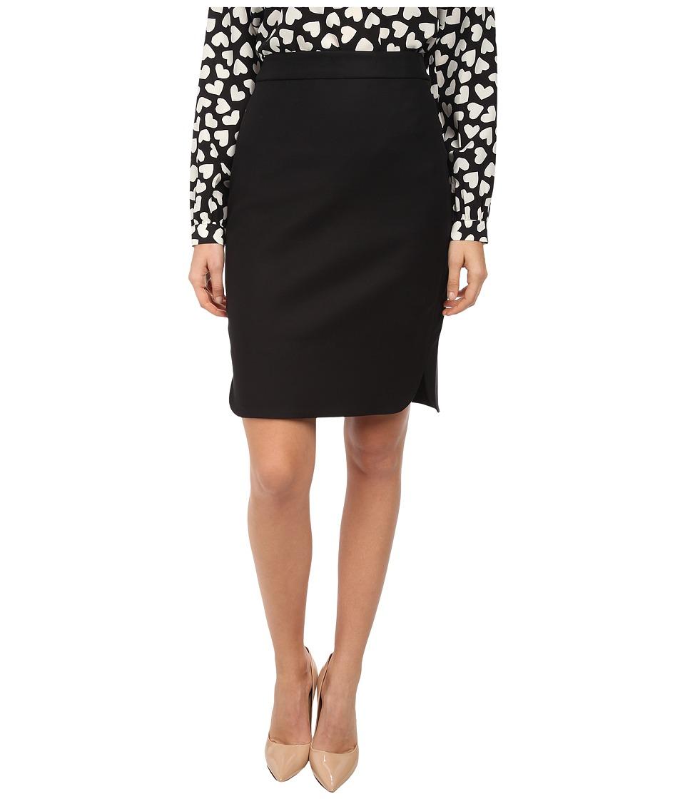 Kate Spade New York - Cotton Twill Pencil Skirt (Black) Women