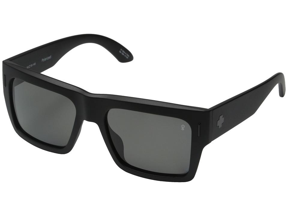 Spy Optic - Bowery (Matte Black/Injected/Grey Polarized) Sport Sunglasses