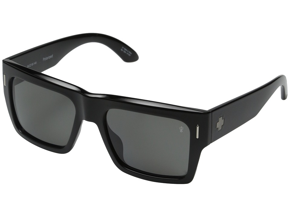Spy Optic - Bowery (Black/Injected/Grey Polarized) Sport Sunglasses