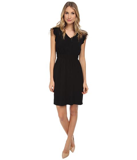 Kate Spade New York - Fluid Crepe Frill Dress (Black) Women