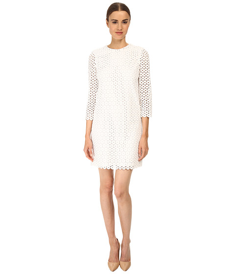 Kate Spade New York - Guipure Lace Ashby Dress (Fresh White) Women
