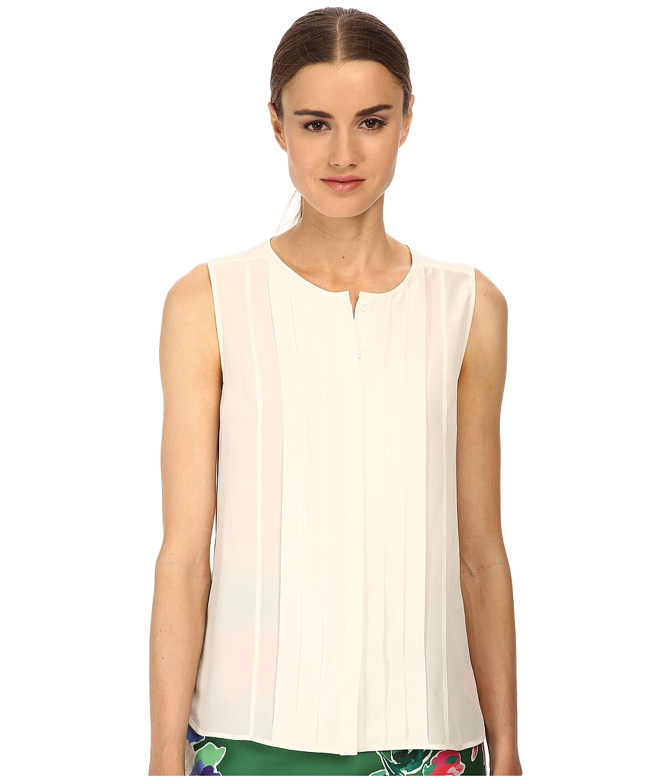 Kate Spade New York - Pleated Silk Top (Cream) Women