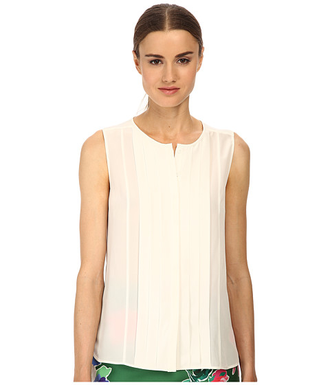 Kate Spade New York - Pleated Silk Top (Cream) Women's Clothing