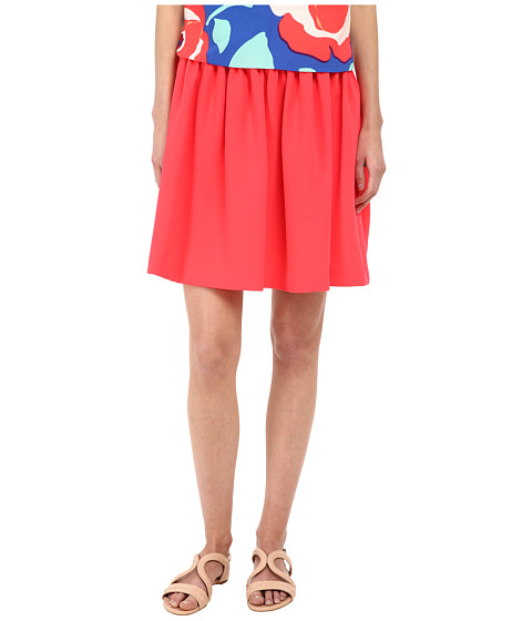 Kate Spade New York - Crepe Gathered Skirt (Geranium) Women's Skirt