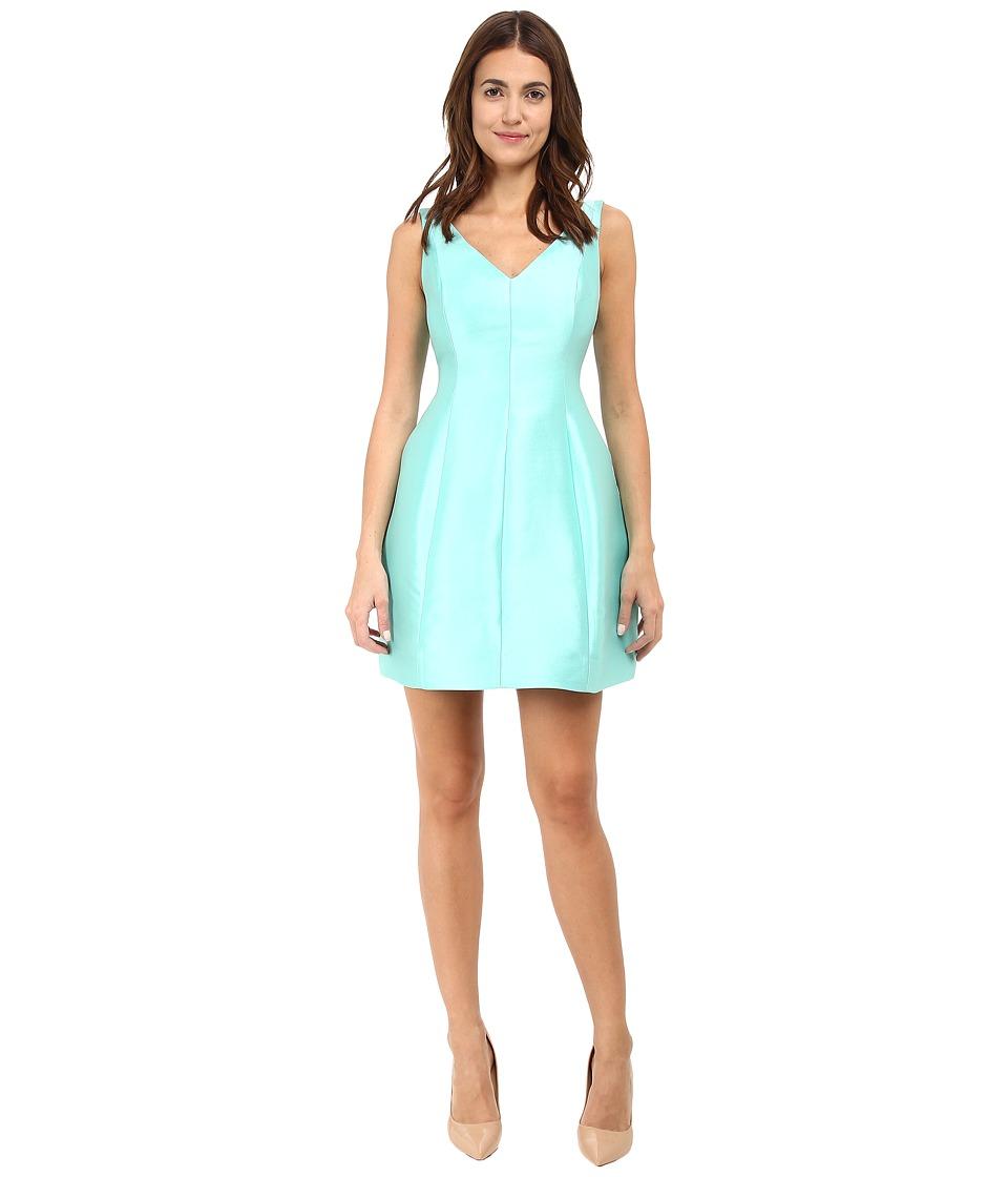 Kate Spade New York - Structured Silk Mini Dress (Nisbet Blue) Women's Dress