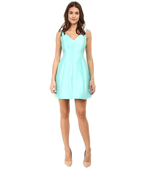 Kate Spade New York - Structured Silk Mini Dress (Nisbet Blue) Women