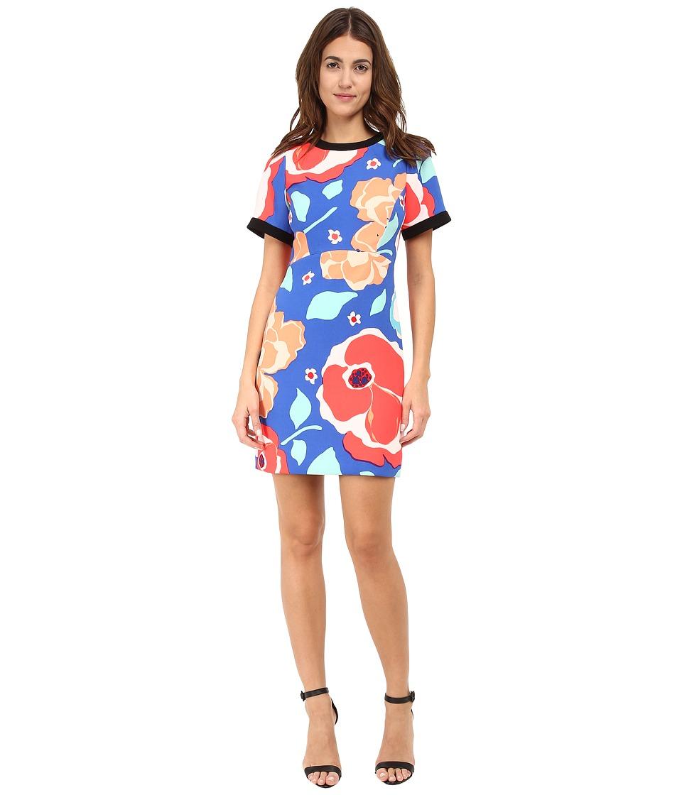 Kate Spade New York - Jacquard Dress (Ocean Blue Multi) Women's Dress