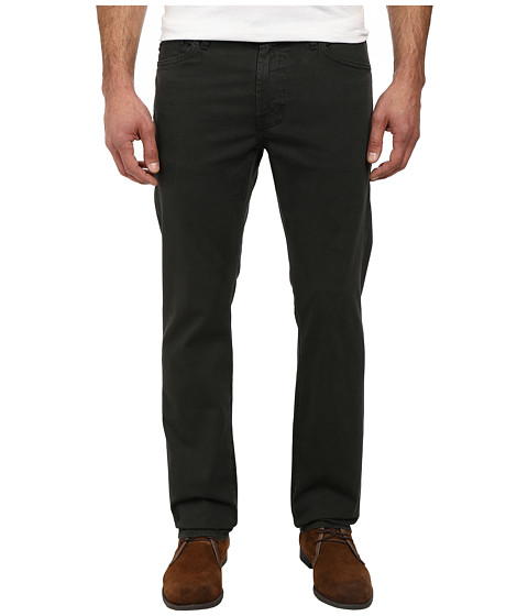AG Adriano Goldschmied - Graduate Tailored Straight Sueded Stretch Sateen (Sulfur Summit Green) Men