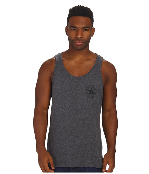 Converse - Triblend Left Chest Core Plus Tank Tee (Charcoal) Men's T Shirt