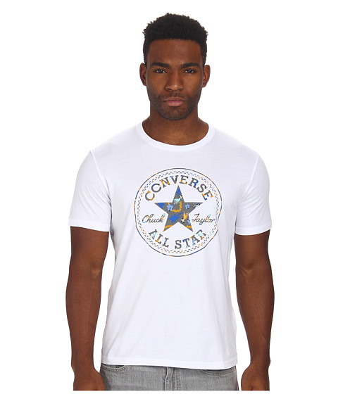 Converse - Surfing Babes Core Plus Tee (Converse White) Men's Swimwear