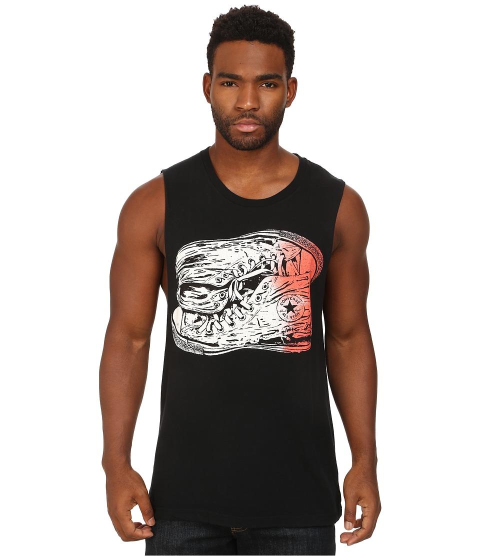 Converse - Ombre Chuck Muscle Tee (Converse Black) Men