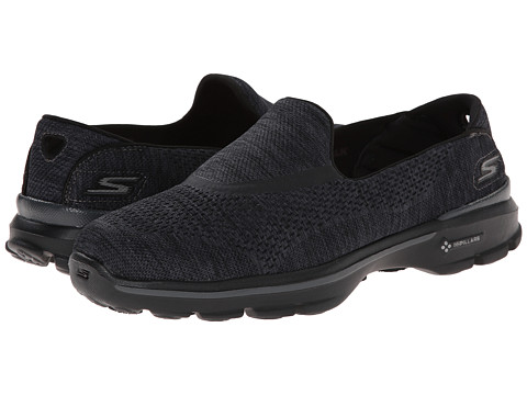 SKECHERS Performance - Go Walk 3 - Renew (Black) Women's Flat Shoes