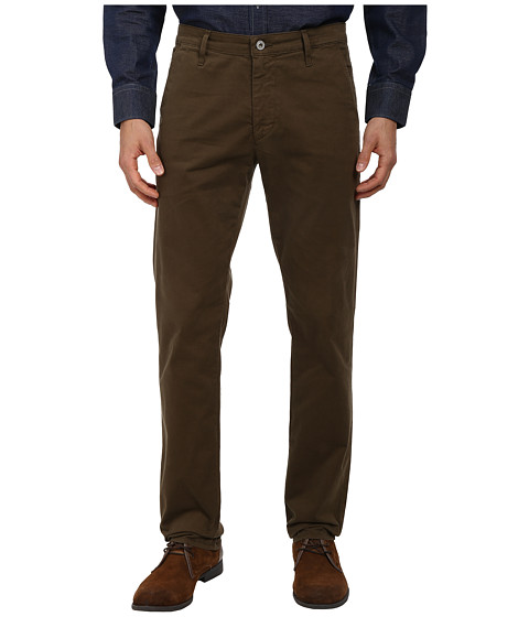AG Adriano Goldschmied - Lux Khaki Tailored Trouser in Rustic Olive (Rustic Olive) Men